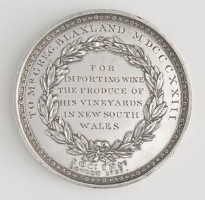 Blaxland Medal 1823